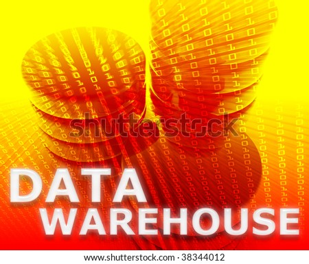 Data warehouse abstract, computer technology information concept illustration