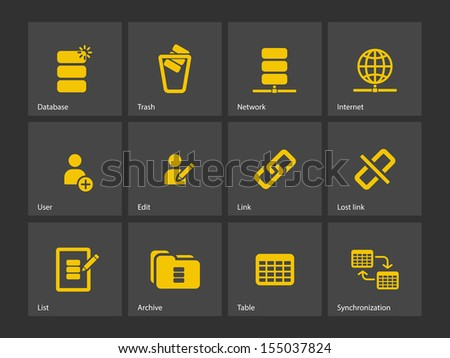 Database icons. See also vector version.