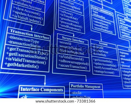 database structure - 3d background
