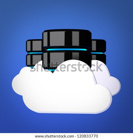 Databases and cloud computing concept