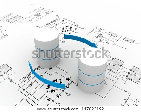 Databases concept - stock photo