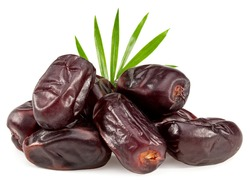 date fruit isolated on white background. clipping path