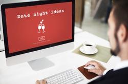 Date Night Ideas Valantine Romance Heart Love Passion Concept