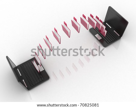 Date transfering - stock photo