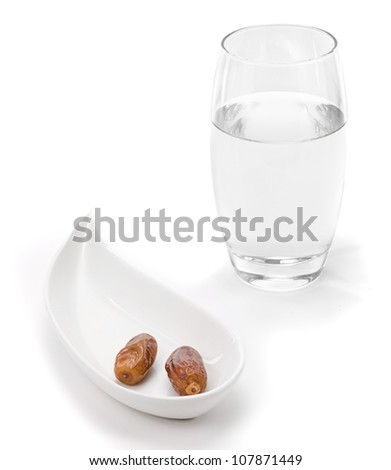 Dates and water first food and drink to be consumed after sunset according to Quran