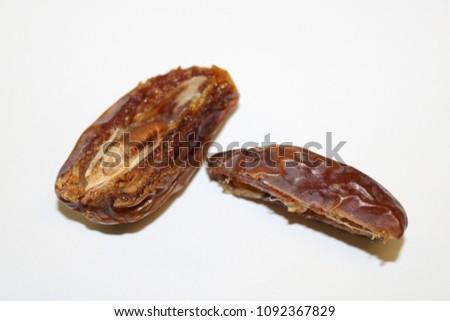 Dates fruit. Ripe dates. Dried dates. Palm dates. #1092367829
