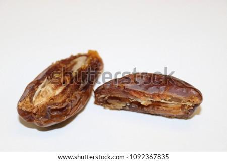 Dates fruit. Ripe dates. Dried dates. Palm dates. #1092367835