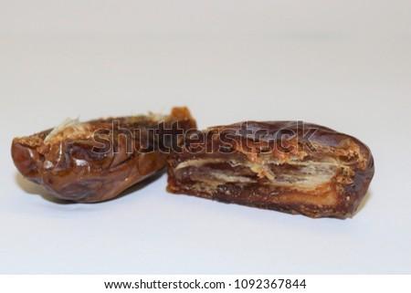 Dates fruit. Ripe dates. Dried dates. Palm dates. #1092367844