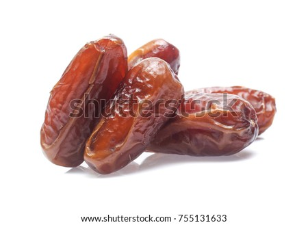 Dates isolated on white background #755131633