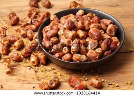 Dates palm fruits