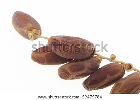 dates spray on isolated white background