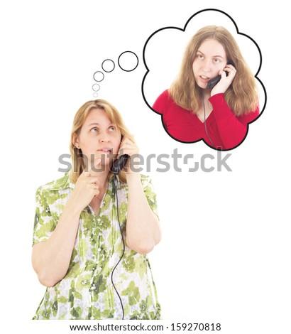 Daughter calling worried mother