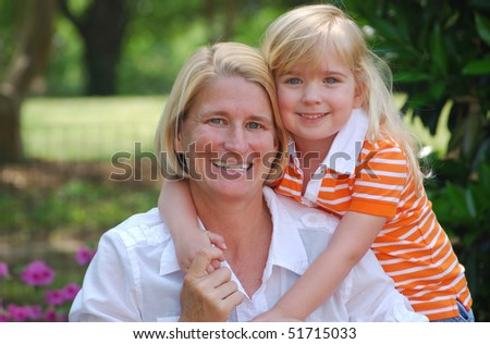 daughter hugging mom