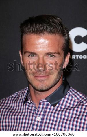 David Beckham at the Cartoon Network Hall of Game Awards, Barker Hangar, Santa Monica, CA 02-18-12