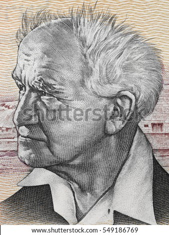 David Ben-Gurion portrait on Israeli 50 (old) sheqalim banknote closeup macro. Primary founder of the State of Israel and the first Prime Minister of Israel. #549186769