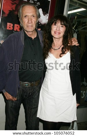 David Carradine and Madla Hruza at a Special Industry Screening of \'Break\'. Laemmle\'s Music Hall 3, Beverly Hills, CA. 05-01-09