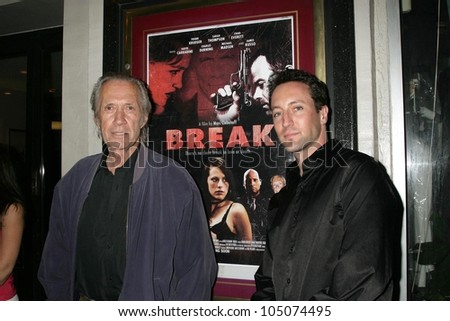 David Carradine and Marc Clebanoff at a Special Industry Screening of \'Break\'. Laemmle\'s Music Hall 3, Beverly Hills, CA. 05-01-09
