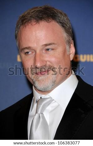 David Fincher in the press room at the 61st Annual DGA Awards. Hyatt Regency Century Plaza, Los Angeles, CA. 01-31-09 - stock photo