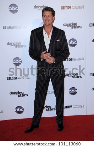 "David Hasselhoff at the ""Dancing With The Stars"" 200th Episode, Boulevard 3, Hollywood, CA. 11-01-10"