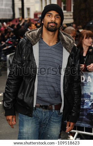 """David Haye arriving for European premiere of """"The Dark Knight Rises"""" at the Odeon Leicester Square, London. 18/07/2012 Picture by: Steve Vas / Featureflash"""