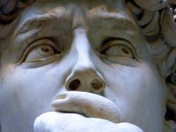 David's Eyes by Michelangelo