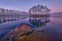 Dawn at Long Pine Key Lake in Everglades National Park near Homestead, Florida