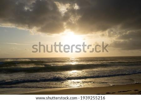 Dawn at Praia do Amor, Pipa Tibau do Sul, Clouds and Sea Photo stock ©