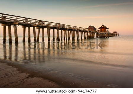 Dawn at the Naples Pier in Naples, Florida