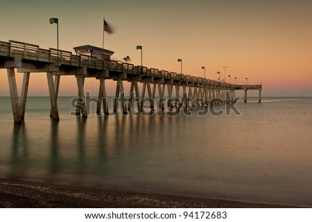 Dawn at the Venice Fishing Pier in Venice, Florida