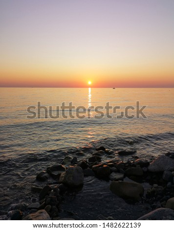 dawn in Italy, dawn over the Ionian sea #1482622139