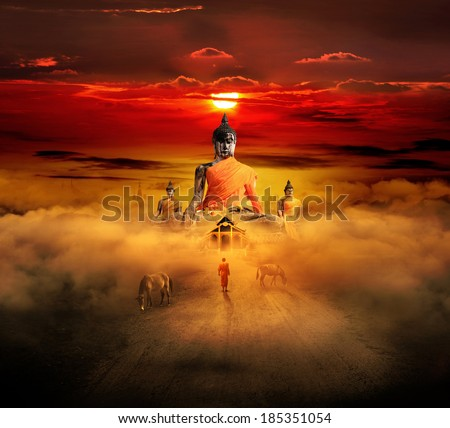 Dawn of Buddhism (Conceptual Surreal style)