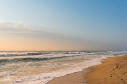Dawn on the beach in Bulgaria.