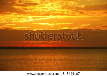 dawn on the lake. dawn landscape on the Great Lakes #1548444107