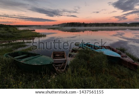 dawn on the river, flowers, river, provincedawn on the river, flowers, river, province #1437561155