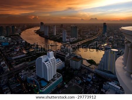 Dawn over Bangkok
