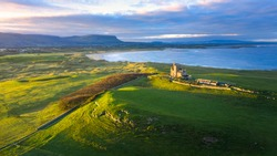 Dawn over Classiebawn Castle, Mullaghmore, Sligo Ireland
