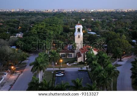 Dawn over Coral Gables, Florida