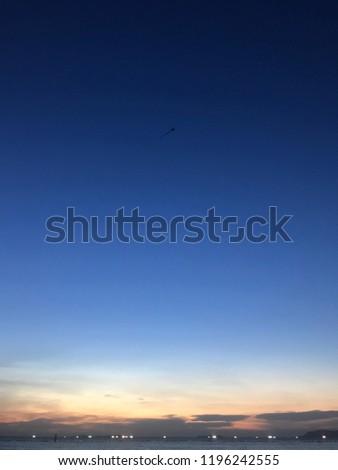 Dawn sky in Thailand #1196242555