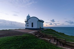 Dawn view of Tacking Point Lighthouse, Port Macquarie, Australia.