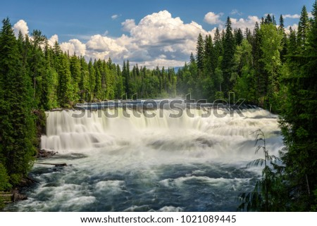 Dawson Falls on the Murtle River in Wells Gray Provincial Park in Canada