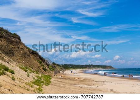 Day at the Beach, Block Island, Rhode Island. #707742787