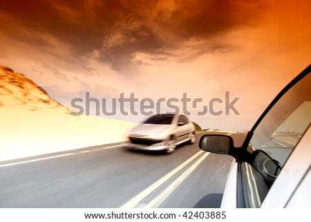 day drive - stock photo