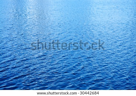 Day light reflected on the water surface