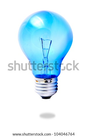 Day light tungsten with with white background
