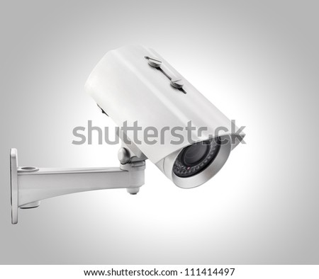Day & Night Color wireless surveillance camera, isolated (with clipping paths)