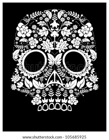 day of the dead pattern - stock photo