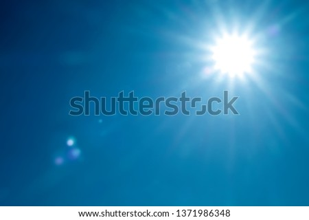 day sky with bright sunshine #1371986348