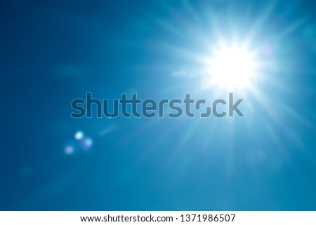 day sky with bright sunshine #1371986507