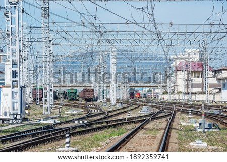 Photo of  Day view of Adler railway station. Sochi. Russia.