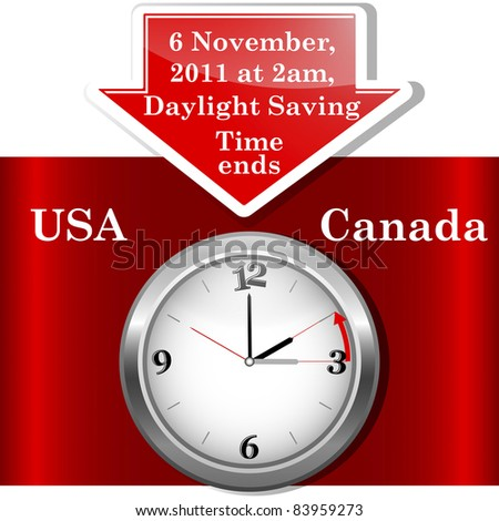 Daylight saving time ends sunday, november 6, 2011 at 2 am. Icon clock.
